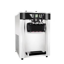 H crema online-Máquina de helados suaves con sabor a 3 sabores 2400 W Máquina de helados comercial 20-24 / h Máquina de yogur de acero inoxidable con refrigeración por aire