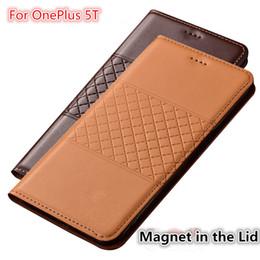 Oneplus чехол для карты онлайн-QX01 Чехол для телефона из натуральной кожи с держателем для карты для OnePlus 5T Чехол для OnePlus 5T Флип-кейс