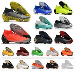 huge selection of 9fa3b 7f521 Mercurial Superfly VI 360 Elite FG KJ 6 XII 12 CR7 Ronaldo Neymar Hommes  Femmes Garçons Chaussures de Soccer Haut 20ème Football Bottes Crampons  Taille 35- ...