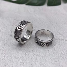 2019 925 anillos Diseñador de la marca anillos de los hombres Real 925 anillo de plata esterlina personalidad Vintage Car Tire gg anillo Lujo hombres joyería encanto novio Regalos 925 anillos baratos