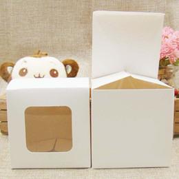 Jabones de la magdalena online-Multi Size regalo DIY de visualización cajas de embalaje con ventana de PVC transparente para Candy / torta / SOAP / Cookies / Magdalena Display Box