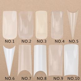 Gel uñas arte diseños de etiqueta online-500 Unids / set Transparente Blanco Falso Nail Art Design Tips Francés Acrylic Polish UV Gel Sticker Salon Design Manicura Herramientas