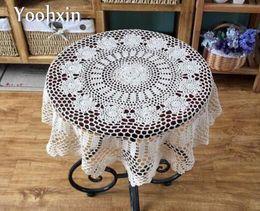 2019 toalha de crochet quadrada HOT DIY luxuoso Crochet Branco Toalha De Mesa Toalha Capa Jantar Doilies Rendas De Algodão Quadrado Handmade Toalha De Mesa Para O Casamento Deco toalha de crochet quadrada barato