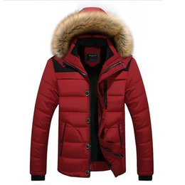 2019 casacos de inverno Casaco de inverno Quente Para Os Homens Parkas Com Forro De Lã E Casaco De Pele Guarnição Plus Size 5XL Padding Red Coats Roupa casacos de inverno barato