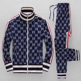 Traje de homem on-line-19ss ano jaqueta sportswear terno moda correndo sportswear Medusa terno dos esportes dos homens carta de impressão roupas treino sportsJacket sp