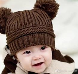 cappelli di lana di animali dei capretti Sconti Bambini Caps Bambini lavorato a maglia inverno Caps beanie del cappello Crochet delle ragazze dei ragazzi simpatico animale cappelli della ragazza di lana Cap lavorate a mano beanies A638