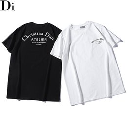 Dior Maglietta Maglietta da uomo manica corta estiva Vendita calda Maglietta da uomo e donna Maglietta con stampa Camicie di cotone QN875 da goccia crotta pantaloni donne fornitori