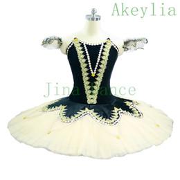 Laranja preto tutu adulto on-line-Adulto Laranja Preto World Professional Ballet Competiton Platter Classical Costumes Tutu dança Meninas Nutcracker Ballet vestido Tutu For Kids