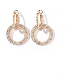 flor de plata mate Rebajas 2019 joyas creativas pendientes de cristal elegantes de alto grado pendientes redondos de oro y plata para mujeres joyería de fiesta de bodas