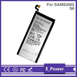 probando la batería del iphone Rebajas Suministro de fábrica del fabricante S6 / S6 Edge G9250 batería Baterías EB-BG925ABE móvil celular de la batería para Samsung S6 / S6 Edge G9250 100 piezas