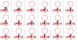 Encantos de luz de acrílico online-Menglina Light Pink Beads niña de dibujos animados acrílico Charm Bracelet Flatback resina Charm Bracelet para niños estilo 1-18