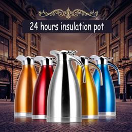 2019 bottiglie d'acqua a forma di animale 2L europea dell'isolamento di vuoto doppia dell'acciaio inossidabile POT del caffè del tè del latte Brocca Acqua Caraffa thermos termale Bottiglie