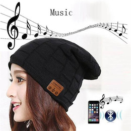 Çıkarılabilir Bluetooth Kulaklık Kulaklık Hoparlör Mikrofon Spor Dış Mekan Şapka En Hediye ile 2019 Kablosuz Bluetooth Beanie Hat Cap Topsell nereden gsm seyretmek cep telefonu tedarikçiler