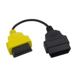 Cables de escáner online-Para Fiat MultiECUScan / FiatECUScan Adaptador del paquete de cables OBD OBD2 ECU Cables Cables ABS Airbag Escáner de diagnóstico 4PCS juegos completos