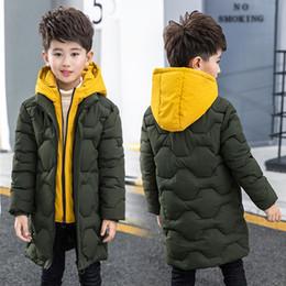 große jungs daunenjacke Rabatt Jungen-Baumwollmantel 2019 die neuen Kinder Herren Winter Down Jacket Cotton Kind Big Kind Fälschung zwei Jacke dicker Mantel