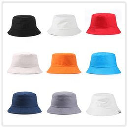 2a95cb922283f Good Quality Plain Cotton Bucket Hats For Adults Mens Womens Fishing Caps  Blank Summer Beach Fisherman Cap Welcome Custom Color