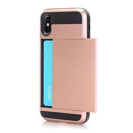 Coque Galaxy S10 Plus S10e Armor Slide Card Pocket Double Couche Hybride 2 en 1 V-erus Couverture Arrière pour iphone Xs Max Xr I8 I7 ? partir de fabricateur