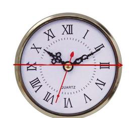 Inserções de relógio de quartzo on-line-Moda 90 milímetros Mini Insert relógio relógio japonês PC12888 Movimento Quartz Ouro Plasatic Fit UP Relógio Insira numerais romanos Clocks Acessórios