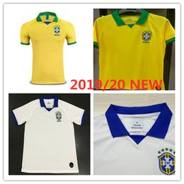 2ef811af739 New Brazil soccer jersey 2019 20 Copa America home away Jerseys D.COSTA  G.JESUS COUTINHO FIRMINO MARCELO uniforms football kit shirts