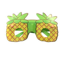 Vasos con forma de fruta online-2019 nuevo diseño creativo en forma de fruta gafas de sol moda niños gafas decorativas hechas a mano diy fiesta de dibujos animados gafas favor de partido