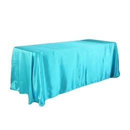 Decoraciones de la ducha de la boda del bebé azul online-228x335 cm Decoración de la boda de la mancha de mesa fiesta de cumpleaños Baby Shower Festival cubierta de tabla Home Diy decoración mantel T8190620