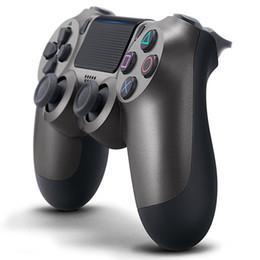 Ps4 en caja online-Controlador inalámbrico Bluetooth PS4 para PS4 Vibración Palanca de juegos Gamepad PS4 Controlador de juegos para Sony Play Station Con caja al por menor de calidad superior
