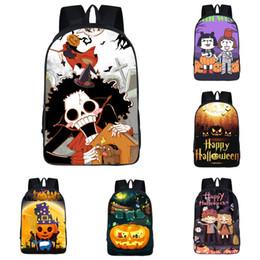 2019 grandes bolsas de hombro para la escuela Student Pumpkin Shoulders Mochila Tema de Halloween 15 Diseño 3D Custom Ghost School Bag Niños Mochila grande de 16 pulgadas de alta calidad 06
