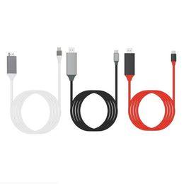 cable de extensión de alimentación Rebajas 4K 1080P 2M USB 3.1 Tipo C a HDMI cable USB-C 4K 1080P HDTV Adaptador de cable para el cable Samsung S8 S8 Plus + HDMI