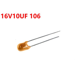 2019 capacitores tântalo Capacitor de tântalo 16V 10UF 106 Em linha 2 pinos com capacitor de pólo desconto capacitores tântalo