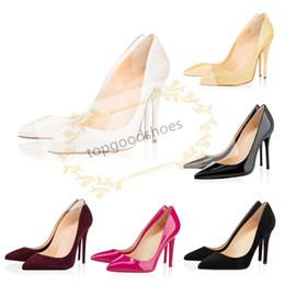 Spitze ringe online-Großhandel neue reizvolle Stiletto Suede zurück Ring Spitzschuh-Frauen-Pumpen Mode-Absatz-Schuhe für Frauen Büro-Kleid-Schuhe
