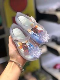 2020 sandalias tamaño niña grande Tamaño grande de los zapatos de la jalea Mini Melissa princesa embroma los zapatos del Bowknot Sandalias niños grandes congeló caramelo SH19111 sandalias tamaño niña grande baratos