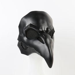 Masque de corbeau en Ligne-Cool Retro Rock OW PVC Type Punk Masque Crow Reaper Nevermore Peau Noir Masques Reaper Peste Docteur Masque Oiseaux À Long Nez Punk Crow