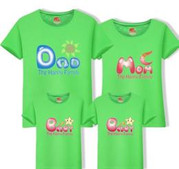Canada T-shirts manches courtes famille vêtements coton correspondant 2019 nouveau look de famille papa maman t-shirts une pièce enfant vêtements de mère Fy049 Offre