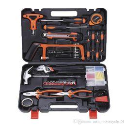 reparar o reparo do telefone Desconto 82 Pieces of Household Multifuncional Hardware Toolbox eletricista Carpintaria reparação manual Tool Set