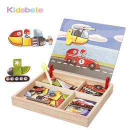 Giocattolo aereo di legno Bambini Magnetismo del veicolo in legno Puzzle 3D Tavolo da disegno Jouet Blocco educativo Giocattoli classici Aereo per auto Cartoon Giocattoli puzzle supplier kids drawing cars da bambini che disegnano automobili fornitori