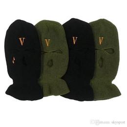 riscaldatori dell'orecchio di ciclismo Sconti 2019 Nuovo Hip Hop V POP STORE Il negozio di guerriglieri limita le teste di banditi per indossare berretti di lana e berretti freddi Maschere per banditi a doppio scopo