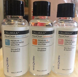 Soluções de peles on-line-A solução limpa do Aqua / Aqua descasca a solução concentrada 50ml pelo soro facial do Hydra da soro facial do Aqua da garrafa para cuidados com a pele normais