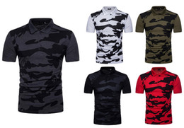 2b74db7fa 2019 NEW Men's Brand Camouflage Polo Shirt Casual Slim Fit Classic Polo  Homme Army Green Red Camisa Polo Masculina