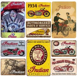 1934 Indian Motorcycles Advertisement Ad Distressed Garage Decor Metal Tin Sign