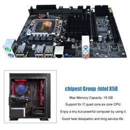 2019 x58 motherboards Desktop Motherboard Computer Mainboard für X58 LGA 1366 DDR3 16GB Unterstützung ECC RAM Für Quad-Core-Sechs-Core-Nadel 8PIN rabatt x58 motherboards