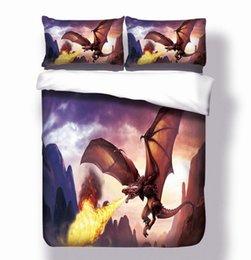 dragão de estilo americano Desconto 3 peças Americano e Europeu Estilo Flying Dragon Bedding Set Um Duvet Cover e dois Travesseiros Cobre Seis tamanhos de Cama Cobre Casa Têxtil GC011