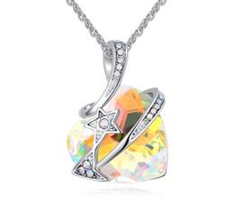 Labekaka Marke Mode Bunte Herzförmigen Kristall Aus
