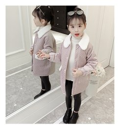 Outerwear & Coats 2018 New Kids Children Jacket Girls In The Long Section Of Parent-child Korean Mother Coat Collar Wool Thickening Down & Parkas