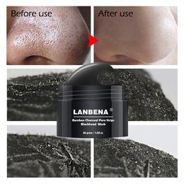 LANBENA Siyah Nokta Remover Burun Peel Siyah Maske Akne Tedavisi Gözenek Şerit Soyulabilir Maske Yüz Maskesi Cilt Bakımı Ile 60 adet Kağıt nereden