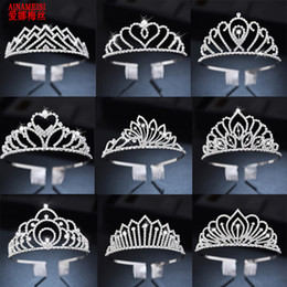 tiara coroa vintage branco Desconto AINAMEISI strass nupcial Tiaras com alça de cabelo acessórios de cristal Coroas Para Jóias Mulheres Meninas Cabelo Partido da flor do casamento