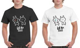 Japanische kaninchen online-Lustiges Anime 1Baka Kaninchen Slap22 Hemd - Top T-Stück des japanischen Kanji-T-Shirts S-3XL Lustiges freies Verschiffen Unisex-zufällige T-Shirt Spitze