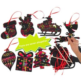 scratch art Coupons - 17pcs Magic Color Scratch Card Christmas Tree Ornaments Scratch Art Paper Coloring Cards Scraping Drawing Toy for Children