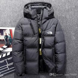 2019 casaco de pêlo duplo branco mens New do inverno norte outdoor Homens vestuário jaquetas casacos Goose Parkas Engrossar manter quentes hoodies outerwear ao ar livre enfrentar Jackets