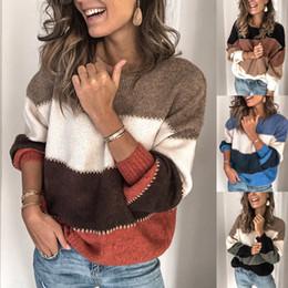 jumpers de lã para mulheres Desconto Moda feminina malha blusas manga comprida solta Outono Outwear O pescoço pulôver