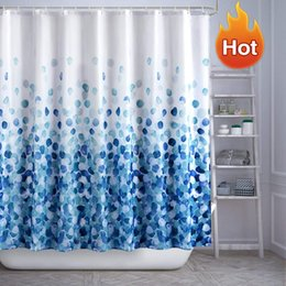 2019 existencias de cortina Cortina de ducha set de baño de tela de otoño Cortinas divertido con el estándar juegos de baño conjunto cortina de ducha impermeable colorido